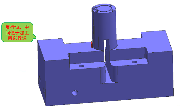 模具设计-爆炸行位内出斜顶加反行位案例